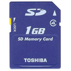 Toshiba - Flash memory card - 1 GB - SD