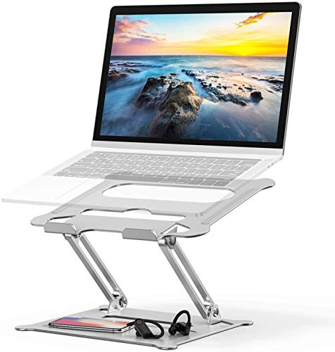Soporte de Portátil,Tokmali Aluminio Soporte para Laptop Portátil Plegable y Ajustable Soporte Ordenadores para Todos Los Portátiles 11-17 Pulgadas MacBook/Ordenadores Portátiles/Notebook/DELL/Lenovo