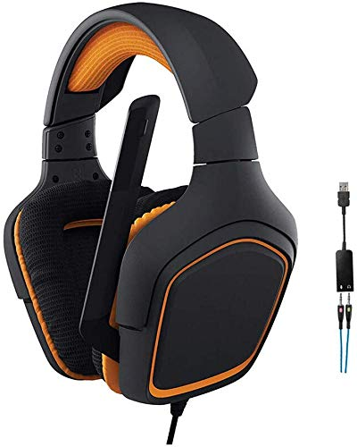 HAEEP 3,5-mm-Over-Ear-Kopfhörer - PC-Gaming-Headset mit Mikrofon und Surround-Stereo-Soundeffekt für die Heimarbeit, passend für Mobiltelefone und Laptops