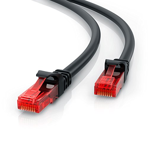 CSL - 2m Cable de Red Gigabit Ethernet LAN Cat.6 RJ45-10 100 1000Mbit s - Cable de conexión a Red - UTP - Compatible con Cat.5 Cat.5e CAT7