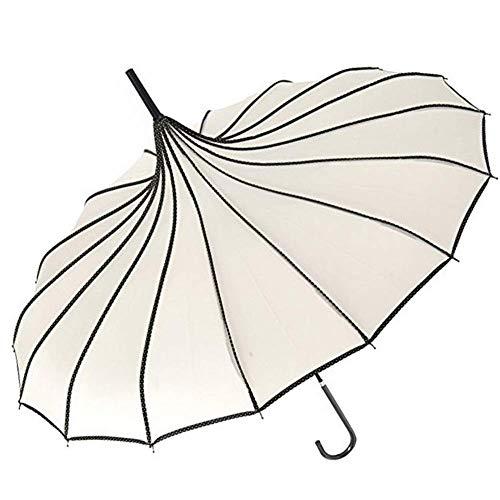 VIVI SKY(TM Pagoda Peak Old-Fashionable Ingenuity Umbrella Parasol (Ivory)