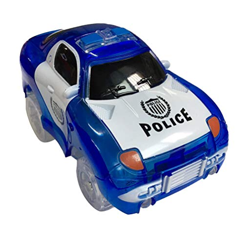 STOBOK Voiture de Police Mini modèle de Voiture Jouet avec lumières Clignotantes à LED