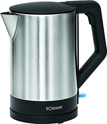 Bomann WKS 3002 CB Hervidor de agua, 2200 W, 1.5 litros, Blanco/acero inoxidable