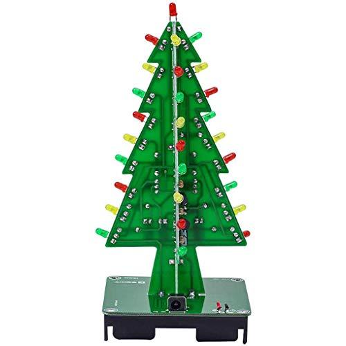 Qimao DIY Weihnachtsbaum LED-Blitz Kit 3D Elektronisches Lernen Set 3 Farbe blinkende LED-PCB Löt-Werkzeug