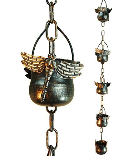 Decorative Iron Dragonfly Rain Chain (Original Version)