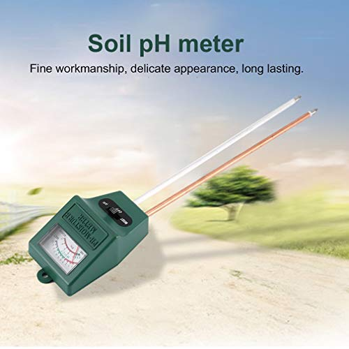 Best Quality 2 In 1 Soil Hygrometer Dual Probe Tester Garden Moisture Ph Light, Dual Temperature Meter - Moisture Meter Pins, Moisture Meter Mold, Soil Probe, Moisture Meter For Wood