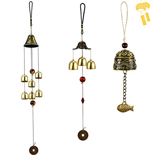 3 Pieces Feng Shui Wind Bell Lucky Wind Chimes Chinese...