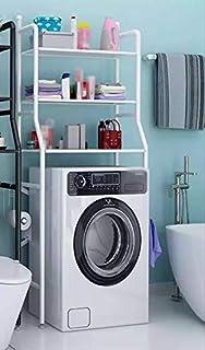RIZONE 3-Tier Bathroom Washing Machine Toilet Shelf Rack Bathroom Frame, Rack Space Saver Over The Machine Rack Bathroom S...