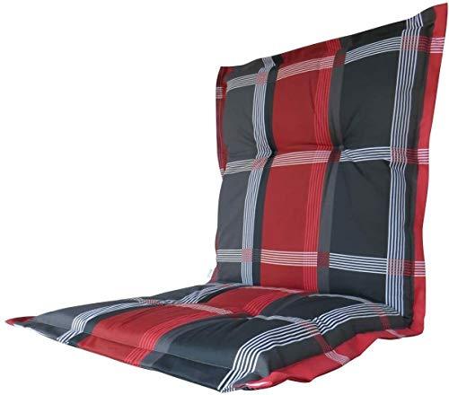 8 cm Luxus Niederlehner Auflage B 253 grau rot kariert, UVP 27,95€