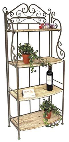 DanDiBo Regal Malega 12060 aus Metall und Holz 150 cm Bücherregal Badregal Küchenregal