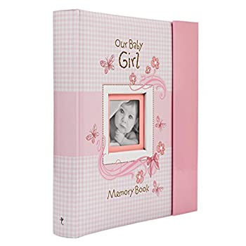 Christian Art Gifts Girl Baby Book of Memories Pink Keepsake Photo Album   Our Baby Girl Memory Book   Baby Book with Bible Verses The First Year