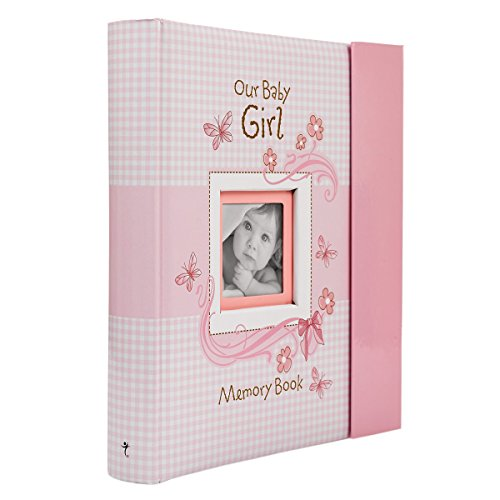 Product Image of the Christian Art Gifts Girl Baby Book of Memories Pink Keepsake Photo Album | Our...