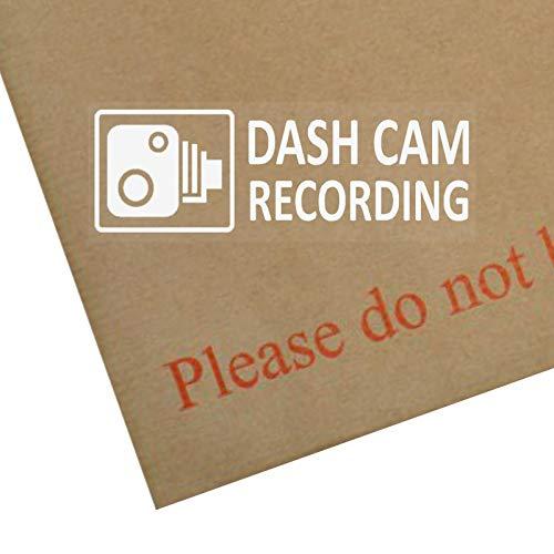 5 pegatinas de advertencia con texto en inglés  Dash Cam Recording , 30x 87mm, para lunar de vehículo, advertencia de seguridad de cámara en el vehículo, para coche, furgoneta, taxi, autobús