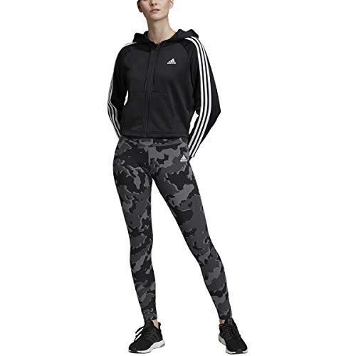 adidas Women s Tracksuit Athletics Hoodie and Tights Suit Set