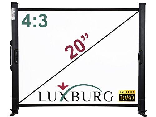 Luxburg LWT-LX-20 Full HD 3D Tischleinwand (50,8 cm (20 Zoll), 4:3, 41x30 cm Beamer Leinwand) weiß