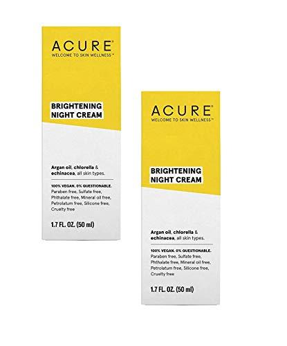 Price comparison product image ACURE Brightening Night Cream,  1.7 Fl. Oz. (Pack of 2)