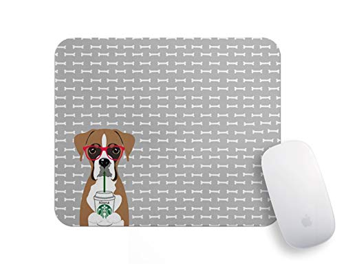 Personalized Mouse Pads for Computers - Lover Gift School Supplies Dorm Decor Gray Cartoon Dog Mouse Pad Funny Mini Mousepad Office Supplies Office Desk Accessories Fun Mouse Mat.