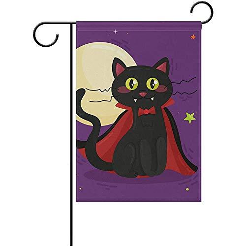 Hao-shop Hoor Kat Nacht Tuin Vlag Banner Decoratie voor Thuis Binnenplaats Yard Outdoor Decor