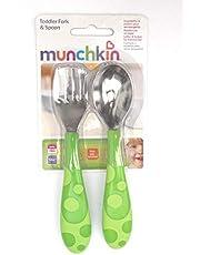 Munchkin Zestaw widelców i łyżek dla małych dzieci 12 miesięcy bez BPA (zielony)