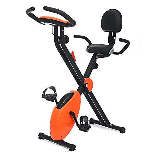 KangHan Bicicleta Estática para Interiores Bicicleta Giratoria Y Manubrio Ajustable Y Asiento Bicicleta Estática Ejercicio En El Hogar con Resistencia, Asequibilidad De 130 Libras