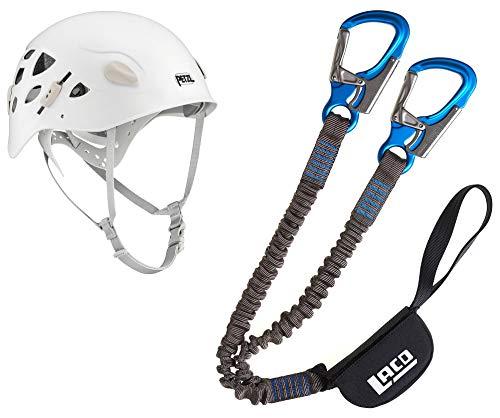 LACD Damen Klettersteigset Pro Evo + Petzl Helm Elia White 52-58cm