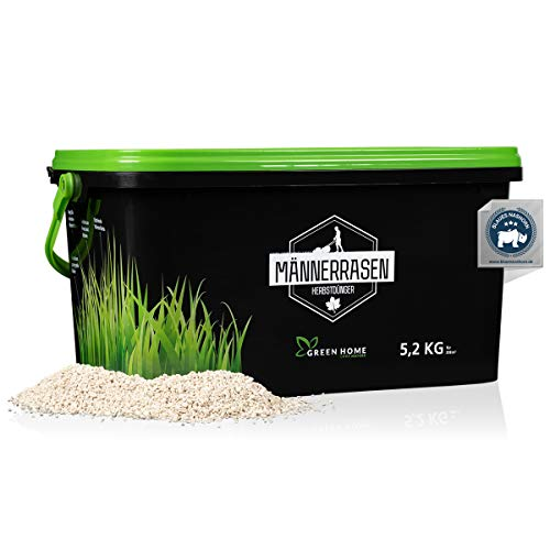 GREEN HOME® Rasendünger Herbst - 5,2kg Rasendünger Herbst Winter schützt vor Frost und Schnee - Rasen Herbstdünger für eine optimale Winterhärte - Gebinde 100% recycelt - Made in Germany