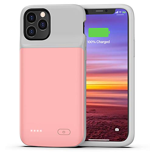 Swaller Battery Case for iPhone 11 Pro, 4800mAh Protective Portable Charging Case, Rechargeable Extended Battery Charger Case for iPhone 11 Pro(5.8 inch) (Pink)