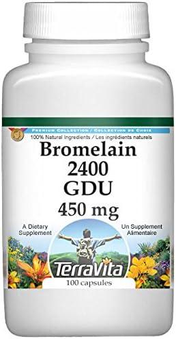 Bromelain Gorgeous 2400 GDU - 450 mg Limited time cheap sale 2 100 Capsules 519388 ZIN: Pack