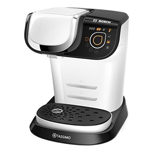 Bosch TAS6004 Tassimo My Way Kapselmaschine (über 70 Getränke, Personalisierung, vollautomatisch, einfache Zubereitung, 1.500 Watt) weiß