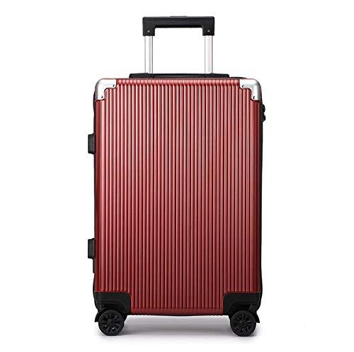 MHO Draagbagage, hardcase spinner koffer, milieuvriendelijke spinner koffer met TSA slot (rood blauw)
