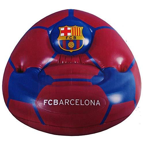 FCB FC Barcelona - Sillón hinchable (Talla Única) (Rojo/Azul)