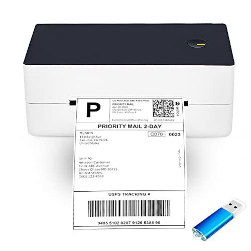 Stampante termica per etichette 4X6, stampante termica per etichette da 150 mm/s per spedizione di etichette con codice a barre, compatibile con Windows Mac