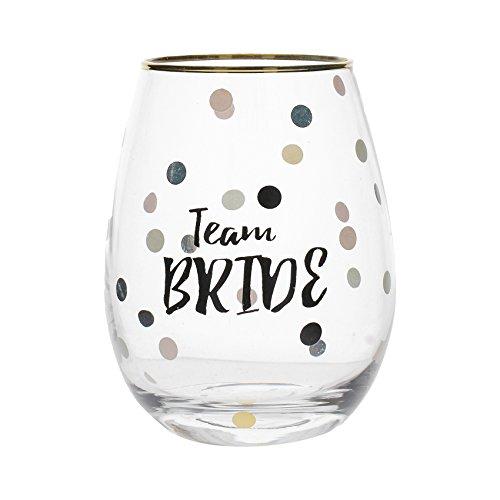 Creative Tops 5233320 Team Bride Stemless Wine Glass AVA & I BridesmaidDekoriertesstielloses Sektglas, 300 ml (10,5 Flüssigunzen), Glas, durchsichtig