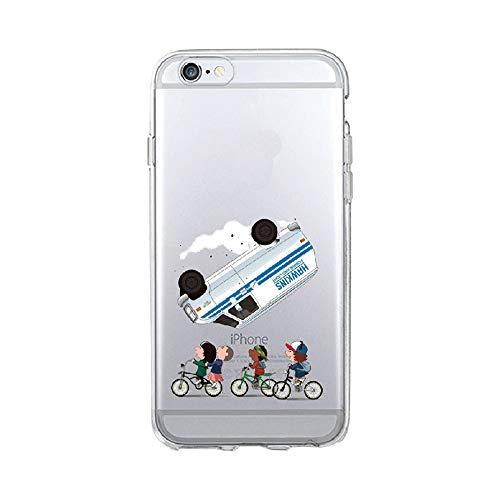 APHT Stranger Things TPU Silicone Phone Case Anti-Deslizante Totalmente Protegido Case Cover para Apple iPhone 6,7 Plus/iPhone 8 Plus,Samsung Galaxy S6/S7/S8/S63