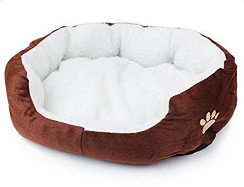 LAAT Cama para Mascotas Cama de Perro Cama de Dormir para Gatos Cama de Perro de Forma Redonda - Marrón