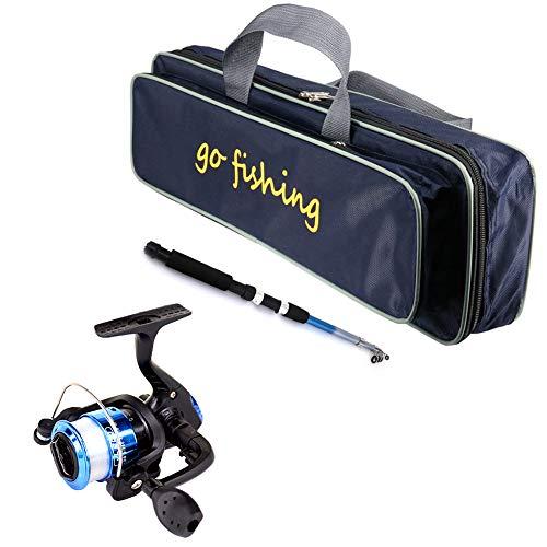 WHFY Set de cañas de pescar para niños principiantes, portátil, retractable, juego...