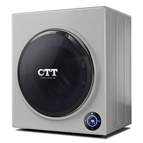 CTT Clothes Dryer   13 Lbs. 1500W 110-125V Intelligent Compact Portable Tumble Clothes Laundry Dryer, Intelligent Humidity Sensor - Gray