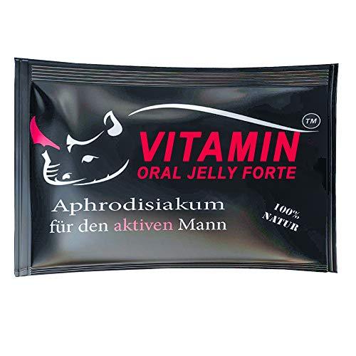 VITAMIN PREMIUM Oral Jelly Natürliches Gel | Für aktive Männer | 8 Portionsbeutel | Testosteronspiegel, Libido & Ausdauer | Sofort Effekt | Orale Einnahme