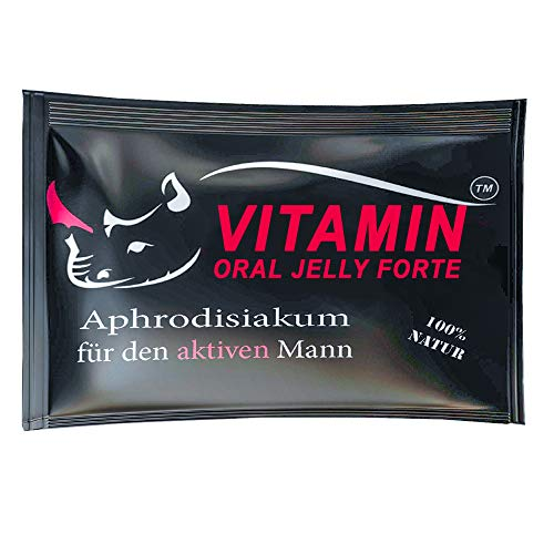 VITAMIN PREMIUM Oral Jelly Natürliches Gel | Für aktive Männer | 10 Stück | Testosteronspiegel, Libido stärken | Deutsche Herstellung | Vegane Formel