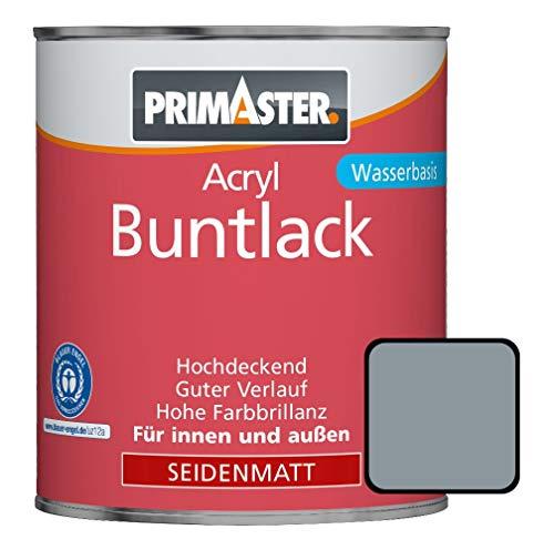 Primaster Acryllack Buntlack silbergrau seidenmatt 750 ml hochdeckend