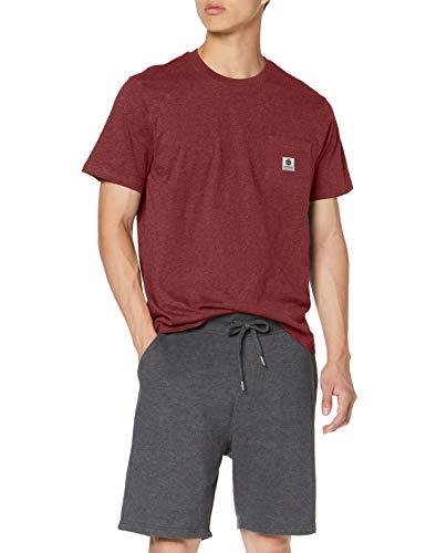 Element Herren T-Shirt Basic Pocket Label - T-Shirt für Herren, Port Heather, XS, N1SSG3