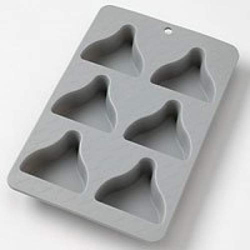 Silicone Cake Pan: Hersheys Kisses Cupcake Muffin ~ Gray 6 Cavity