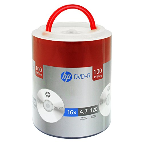 HP DVD-R 16X 4.7GB 100PK Spindle with Handle