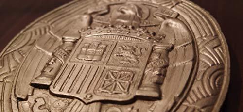 Gran escudo relieve Águila de San Juan - España Franco 27cm