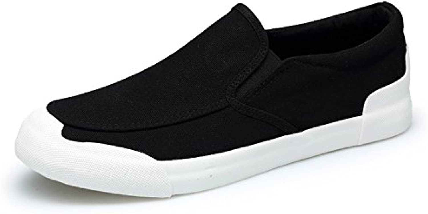 Men's canvas shoes fashion casual men's canvas shoes casual shoes,black,Forty-three