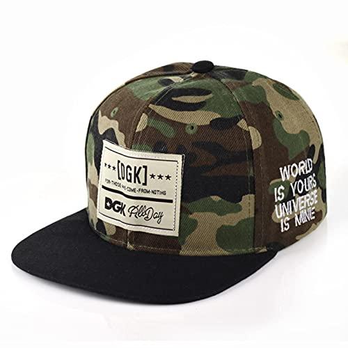 XMYNB Baseball Cap Dgk Camouflage Trucker Hat Hip Hop Baseball Cap Men Running Cap Women Couple Snapback Hat Green