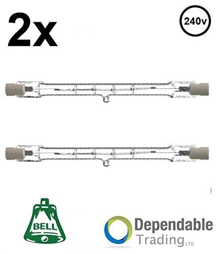 2x 80w = 100w 78mm energiesparender Halogenstab (BELL 03841) R7s Fassung