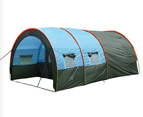 Außenzelt Zelt im Freien 3-4 Personen EIN Zimmer Zwei Hallen 5-8 Personen übergroßen Tunnelzelt Rainproof Campingausrüstung Camping Zelt