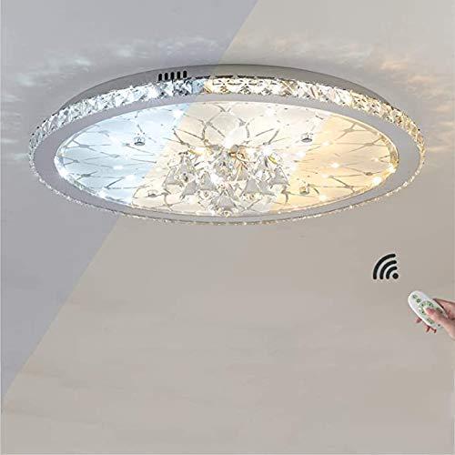 LANTING Cristal Lámpara de techo LED Regulable con control remoto Cuarto Plafones Moderno Calentar Lámpara de sala de estar 3000 K-6000 K Lámpara de techo para Guardería Hotel Sala,Ø43cm 25watt