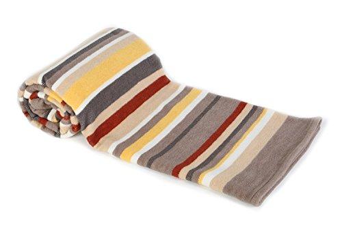 Arus, Kuscheldecke Wohndecke Tagesdecke Couch Überwurf Plaid Reisedecke, Desert Stripe, Baumwollmischgewebe, ca. 150x200 cm, 350 gr cm²